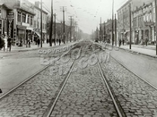 Bath Avenue from Bay 19th, looking SW, 1920. Original West End RR track entering from left