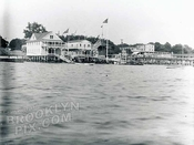 Beach on Gravesend Bay, showing Supper's Hotel and Shield's Pavilion at Bay 22nd Street, c.1913