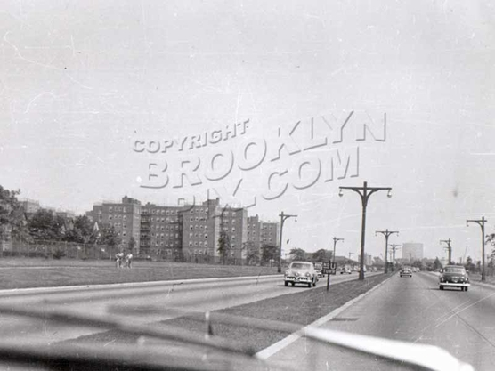 Belt Parkway - only two lanes each way! Near Bay Parkway exit, c.1950