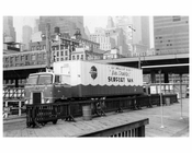"""Ben Franklin"" support  truck at the South Street Seaport 1969"
