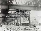 Beneath Broadway Brooklyn El at Eldert Street, prior to rebuilding, 1911