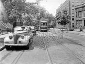 Bergen Street looking west from Kingston Avenue toward Brooklyn Avenue, 1943