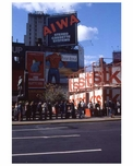 Billboards standing tall in 1970s Times Square