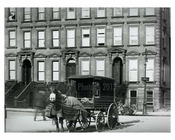 Blanket covered Horse & wagon on Lexington Avenue & 79th Street 1912 - Upper East Side Manhattan NYC