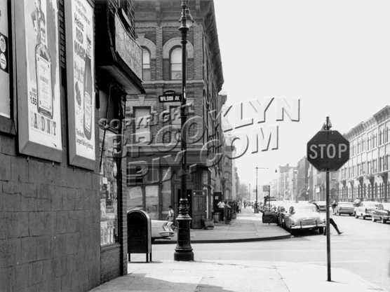 Bleecker Street looking south to Wilson Avenue, 1960