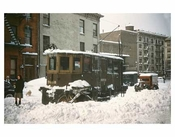 Blizzard with Trolleys 3 - Crown Heights Brooklyn NY