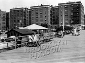 Boardwalk at Brighton Beach, 1950s