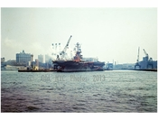 boats passing in front of Schaeffer Brewing Company - South Williamsburg - Brooklyn NY