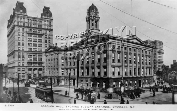 Borough Hall and Temple Bar Building, 1908