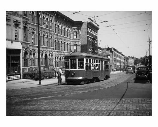 Borough Hall Trolley - Brooklyn NY circa 1930s
