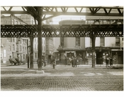 Bowery - east side at 1st Street 1915