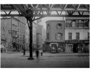 Bowery - view east at 1st Street  1915