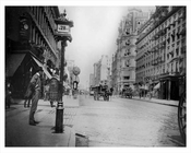 Broadway North facing west 28th Street - Flatiron District - Downtown Manhattan 1896 NYC
