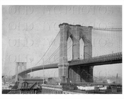 Brooklyn Bridge side view 1890