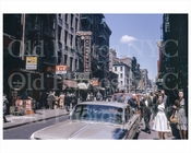 Mott St north to Bayard St Chinatown 1960s