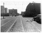 Harrison Ave east from Gerry St long shot 1945