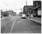 Harrison Ave west at Lorimer St 1947
