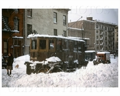 Brooklyn Trolley with snow