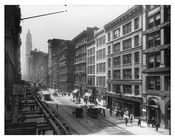 Broadway & White Street - street View - Tribeca - Downtown Manhattan NYC 1913