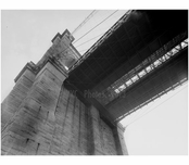 Brooklyn Bridge - angled view looking up at 1982