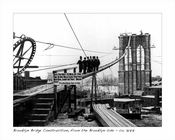 Brooklyn Bridge Construction, from the Brooklyn side 1877 Dumbo Brooklyn NY