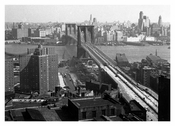Brooklyn Bridge from Municipal Bldg 1950's
