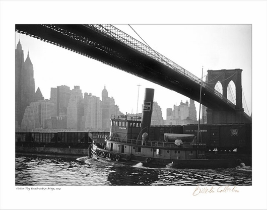 Brooklyn Bridge - Fulton Tug Boat 1920
