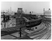 Brooklyn Bridge Train DUMBO 1938