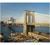Brooklyn Bridge - view looking north with former Brooklyn ferry slip in foreground 1979