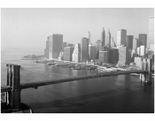 Brooklyn Bridge - view looking towards Manhattan 1982
