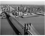 Brooklyn Bridge -  view towards Brooklyn heights - 1978