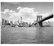 Brooklyn Bridge with Lower Manhattan 1950