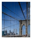 Brooklyn Bridge - with New York City in the background
