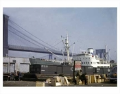 Brooklyn Bridge with Ship