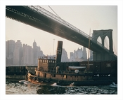 Brooklyn Bridge with Tugboat