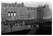 Brooklyn College - President addressing the students regarding Pearl Harbor dec.8th 1941 Flatbush Brooklyn NY