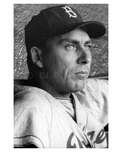 Brooklyn Dodger Gil Hodges in the dugout Ebbets Field 1957 - Brooklyn NY