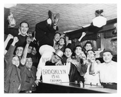 Brooklyn Dodgers fans celebrating the 1941 Penant Win in Williamsburg