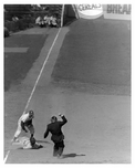 Brooklyn Dodgers vs Pittsburgh Pirates - Brown tags out Rajeck