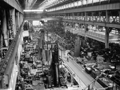 Brooklyn Navy Yard machine shop, 1941
