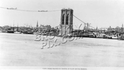 Brooklyn Tower of Brooklyn Bridge c.1876