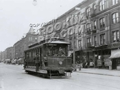 BRT open car 1032 on Seventh Avenue, looking south at Eleventh Street, 1916