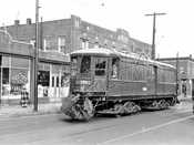 BRT Sweeper 9901 at Hegeman Avenue and Bristol Street, 1944