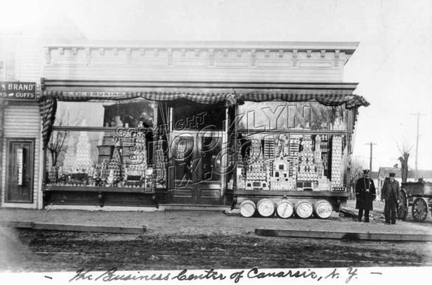 Bruning's Grocery northwest corner of Rockaway Parkway and Conklin Avenue, 1906