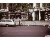 Bum urinating on the Bowery 1970s