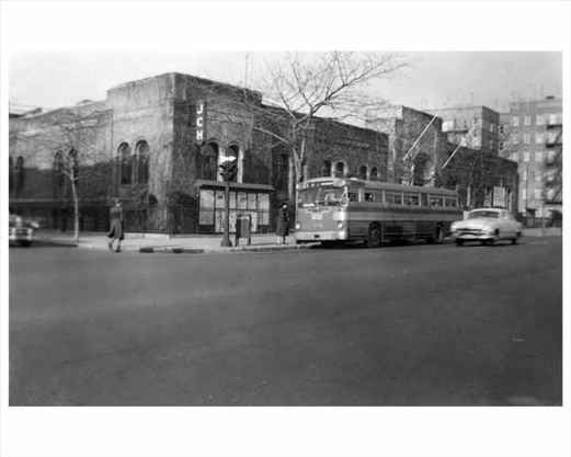Bus stop at Bay Parkway &  79th Street  Bensonhurst - Brooklyn, NY 1952