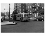 Bus Stop at Washington & Lefferts Ave Flatbush 1959 Brooklyn, NY