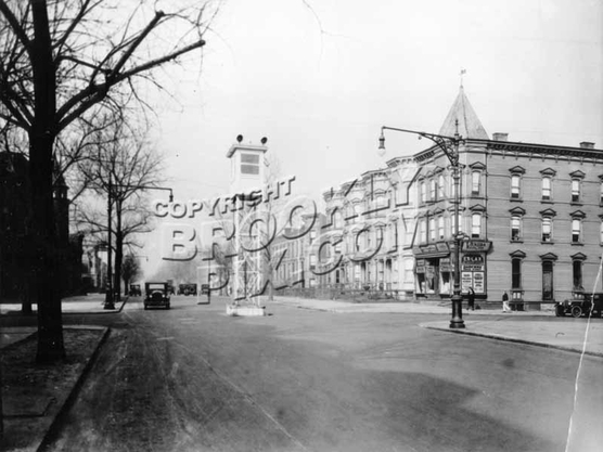 Bushwick Avenue, looking north to Jefferson Avenue, 1920s