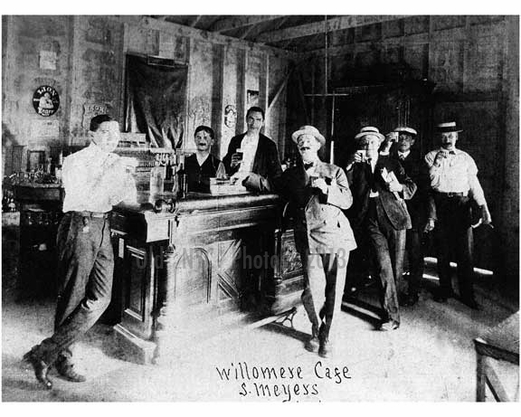 Cafe at Hotel Willowmere, Bath Beach 1900 Brooklyn NY