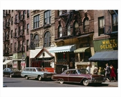 Cars in Greenwich Village 1965 NYC